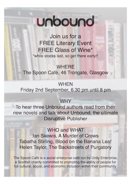 Unbound reading event at the Spoon Cafe in Glasgow