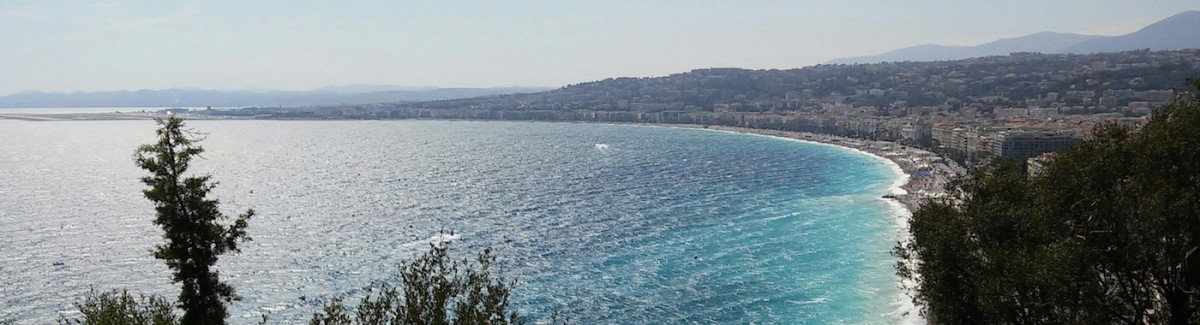 View of Nice and the Promenade des Anglais from the chateau