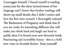 17 Degrees Magazine review of The Backstreets of Purgatory